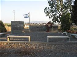 אנדרטה לבני המקום שנפלו במערכות ישראל לוגו