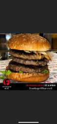 המבורגר 440גרם 100%בקר