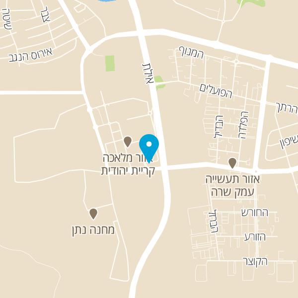 מפה של מסעדת שגב שף
