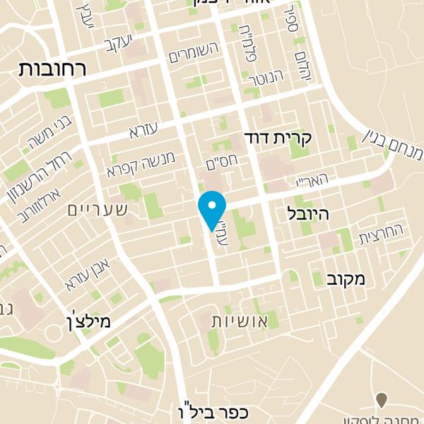 מפה של מוקד רפואי ברחובות מרחב
