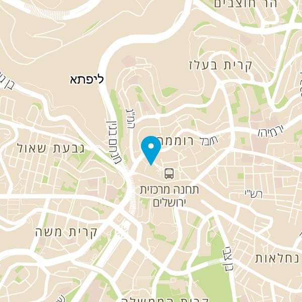 מפה של אנג'ל הבירה ירושלים