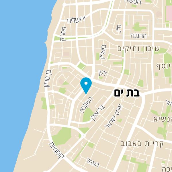 מפה של הגחל הלוהט חנות היבואן