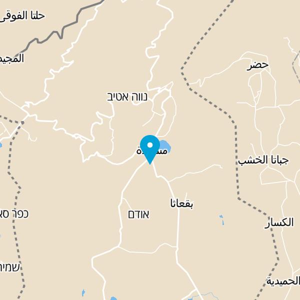 מפה של המטבח הדרוזי בגולן