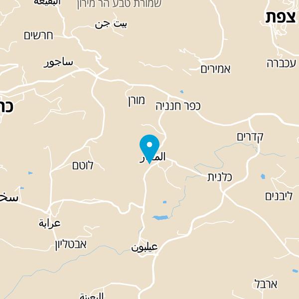 מפה של מסעדת הכפר