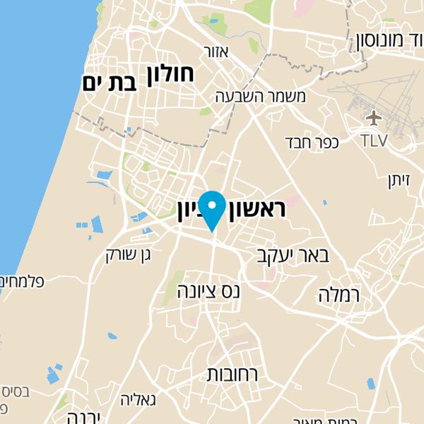 מפה של קינג דיוויד בורגר