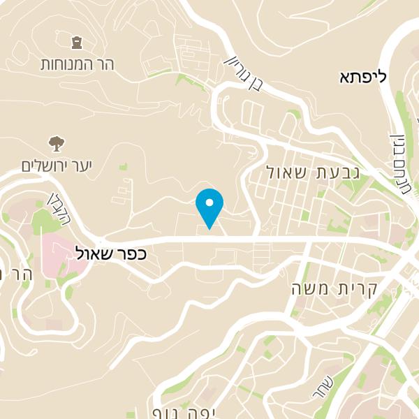 מפה של קפה בית הראל