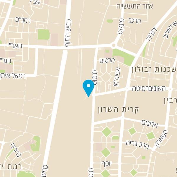 מפה של מרכז מסחרי אלון קרית השרון