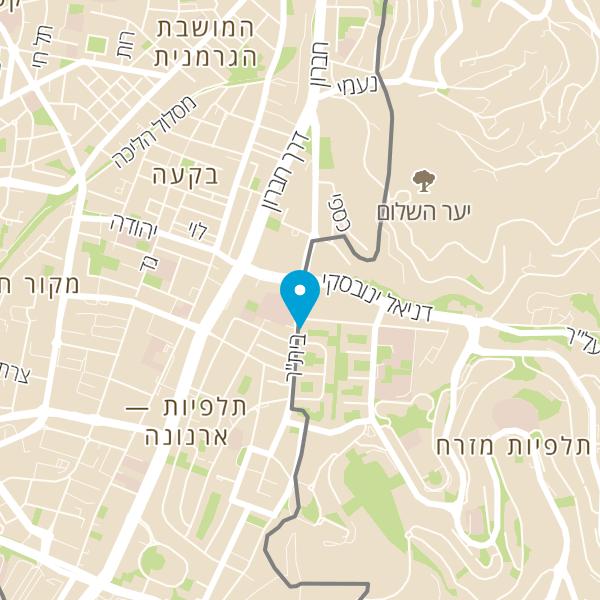 מפה של אבי איצחקוב סניף ירושלים קונג פו קרב מגע