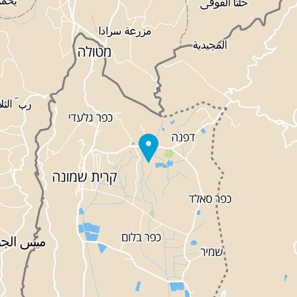 מפה של קונדיטוריית עוז פטיסרי