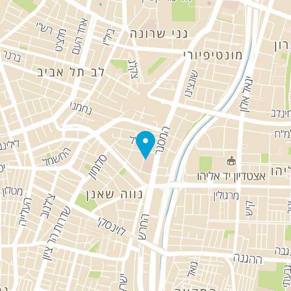 מפה של אולם תצוגה ניסאן תל אביב