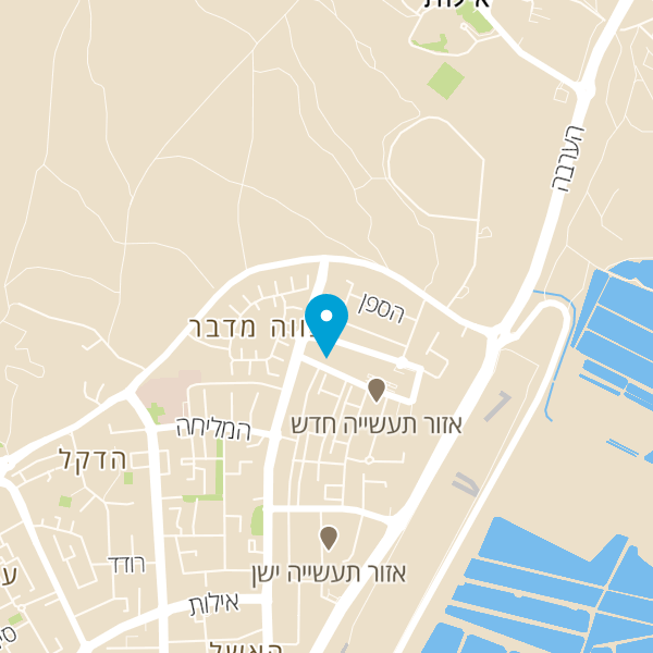 מפה של אלימי קונדיטוריית שף
