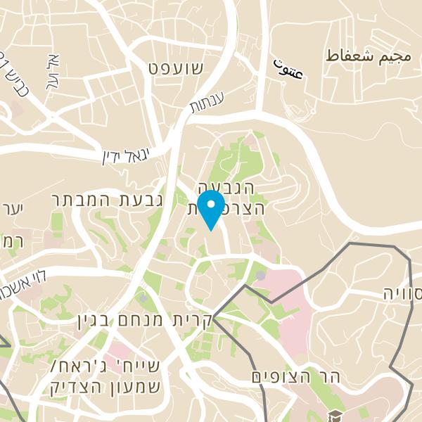 מפה של הקאמרטה הישראלית ירושלים