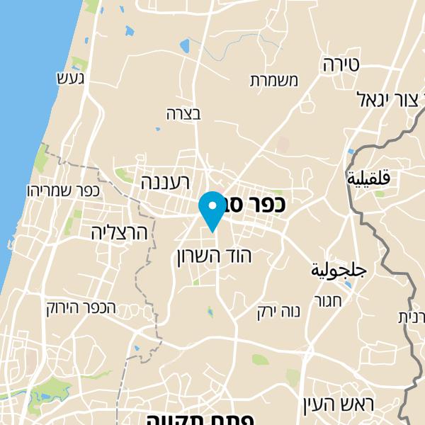 מפה של מרכז שרונה