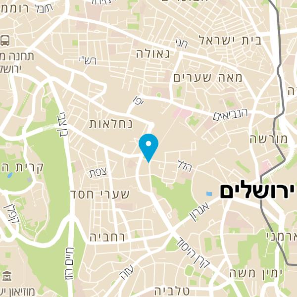 """מפה של ד""""ר יצחק רגב מרפאת שיניים"""