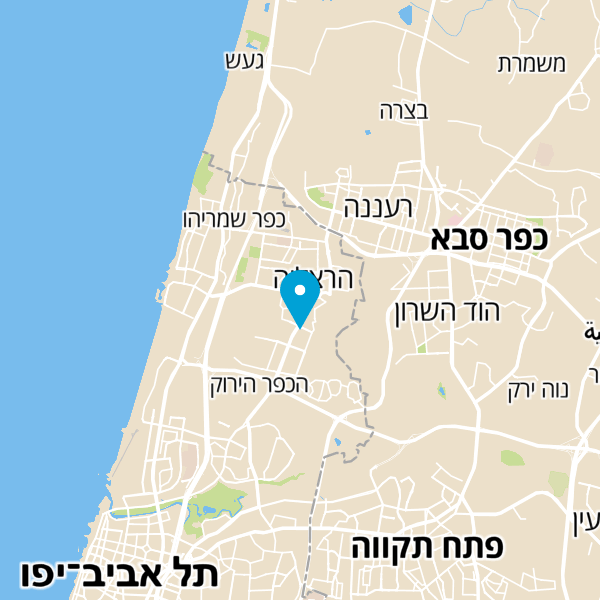 מפה של ליאור קריצמן פסיכולוג