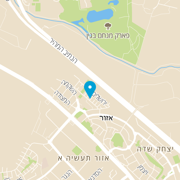 מפה של קפטן ג'ק קיאקים סניף מרכז