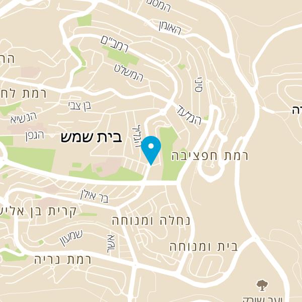 מפה של אלמה בשר עם מסעדה