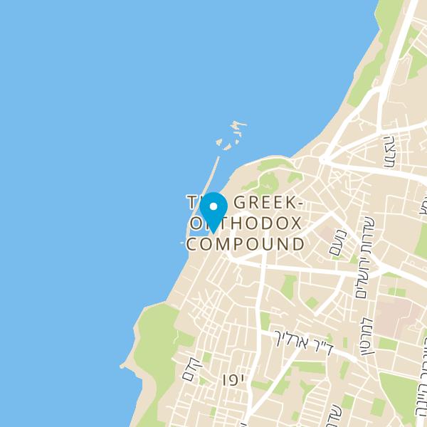 מפה של הזקן והים נמל יפו