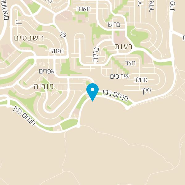 מפה של וופל בר מודיעין