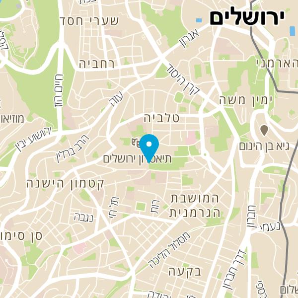 מפה של התזמורת האנדלוסית ירושלים