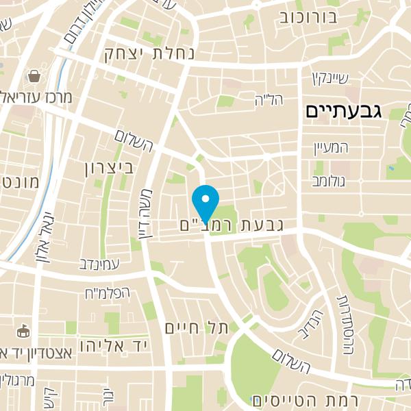 מפה של טאטי בייקרי tatti bakery