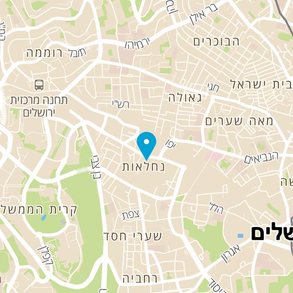 מפה של בורקס ירושלמי
