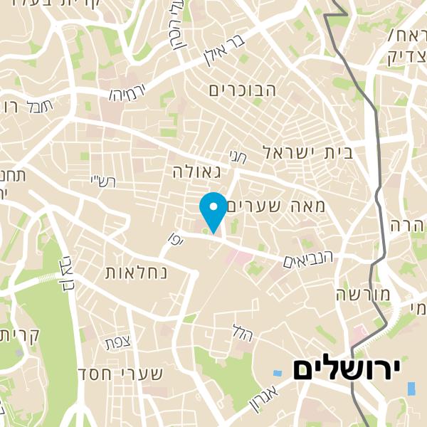 מפה של Jerusalem Burger
