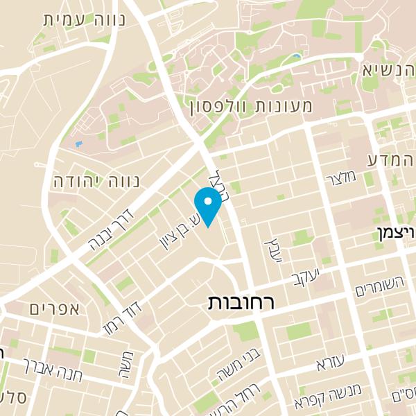 מפה של קפה עלמה רחובות