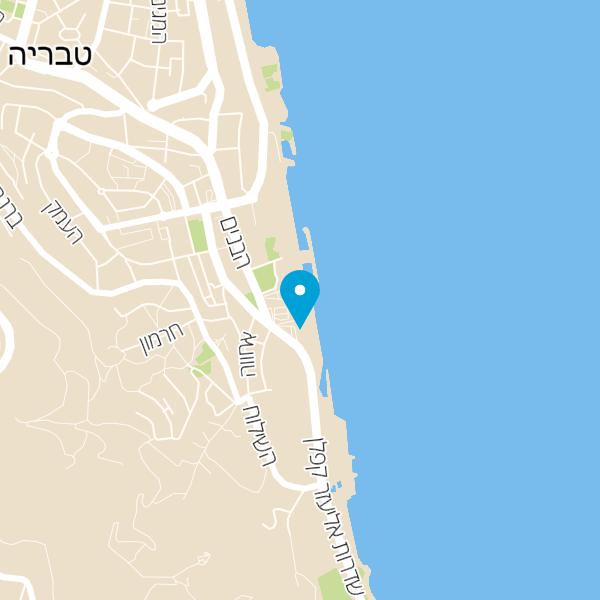 מפה של Hermitage Tiberias