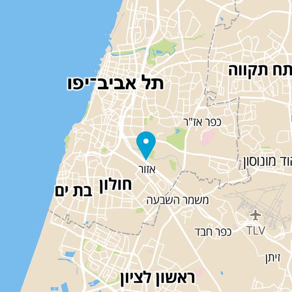 מפה של פארק מנחם בגין