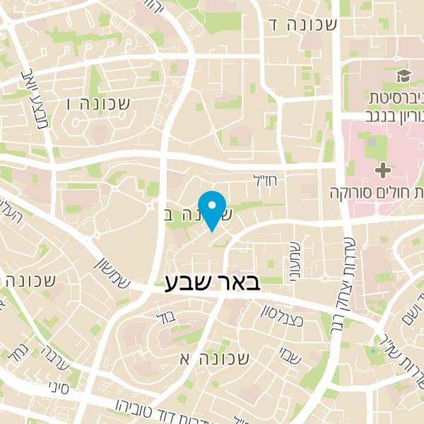 מפה של קליק מנעולנים שירות מנעולן בבאר שבע