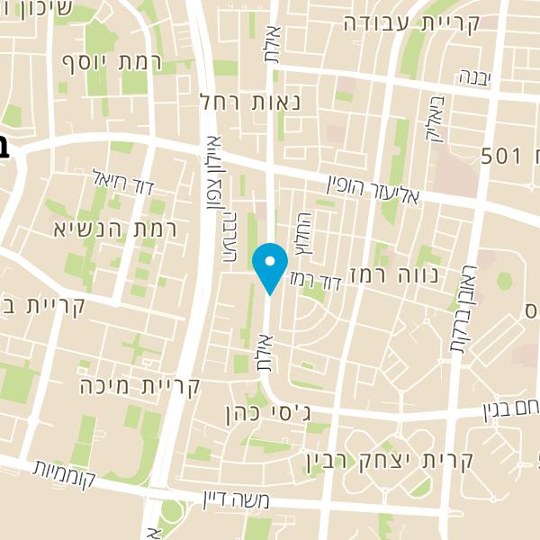 מפה של Juicy burger גוסי בורגר