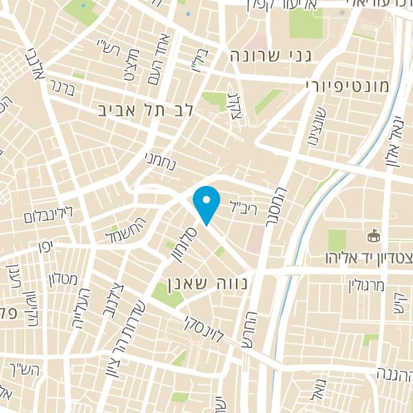 מפה של NYX תל אביב