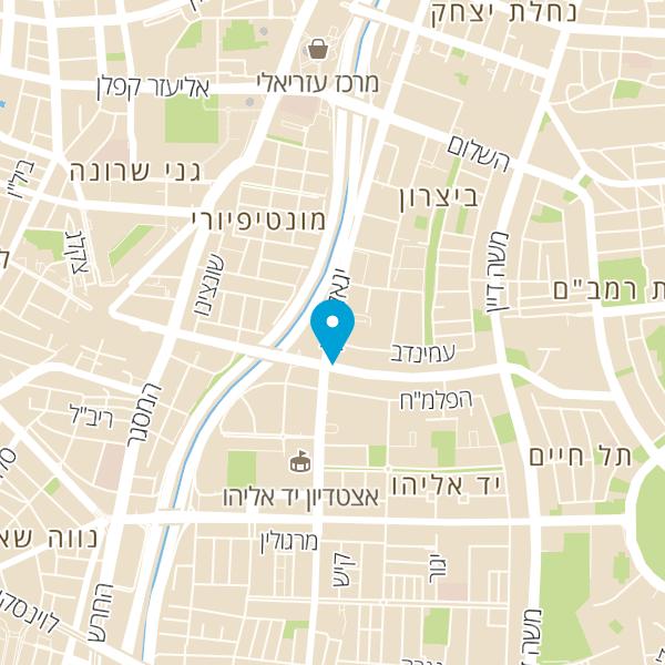 מפה של מבנה יגאל אלון