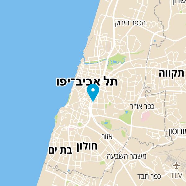 מפה של מנעולן בתל אביב רכבים ובתים