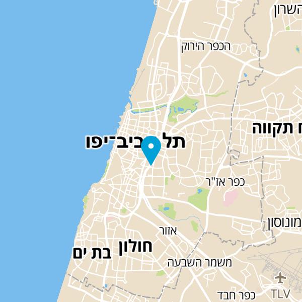 מפה של חניון עזריאלי תל אביב