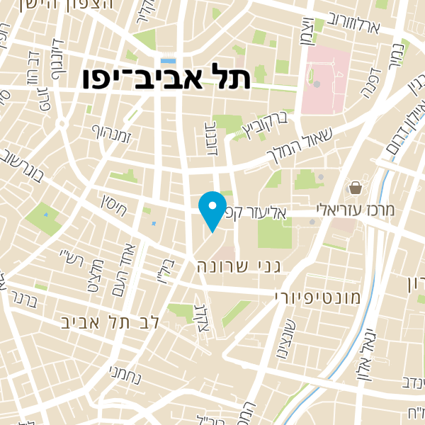 מפה של אליעזר קפלן 8 תל אביב יפו
