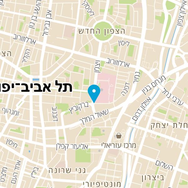 מפה של המרכז הארצי למנעולנים