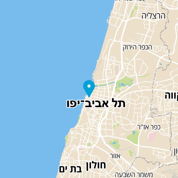 מפה של חוף מציצים