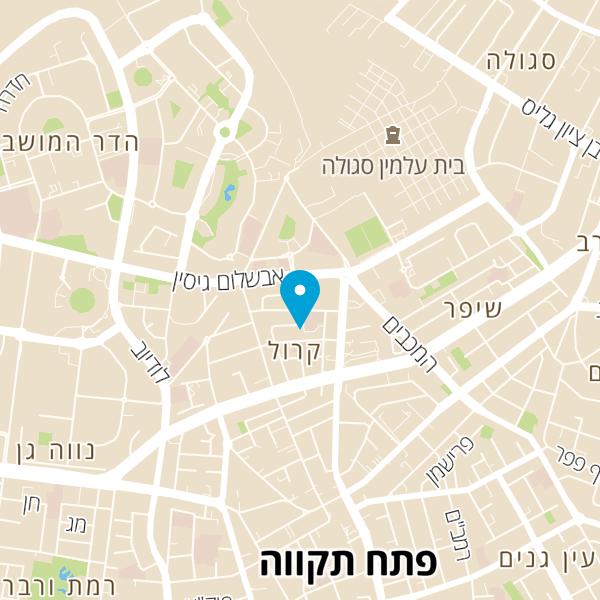 מפה של מסעדת רובינזון