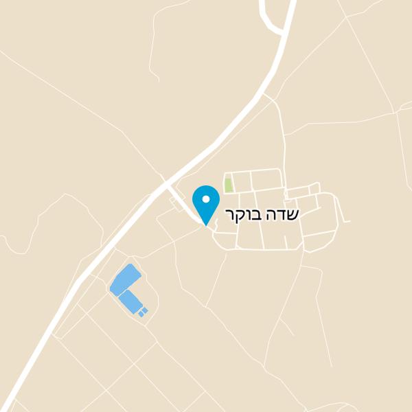 מפה של צריף בן גוריון