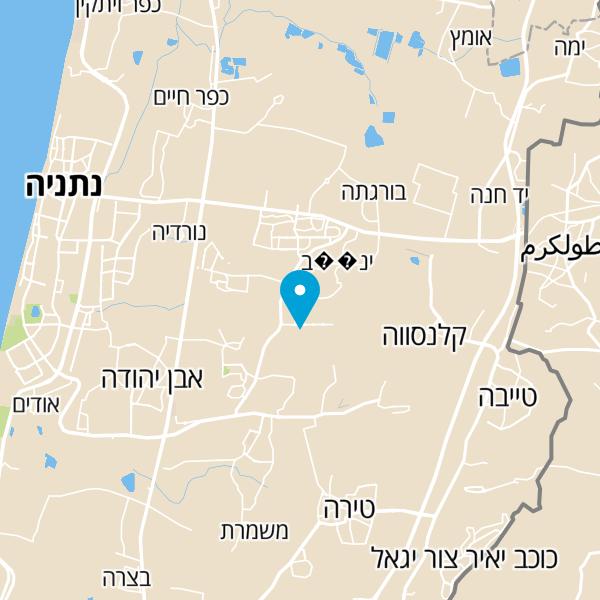 מפה של א.מ.י שרותי מנעולנות