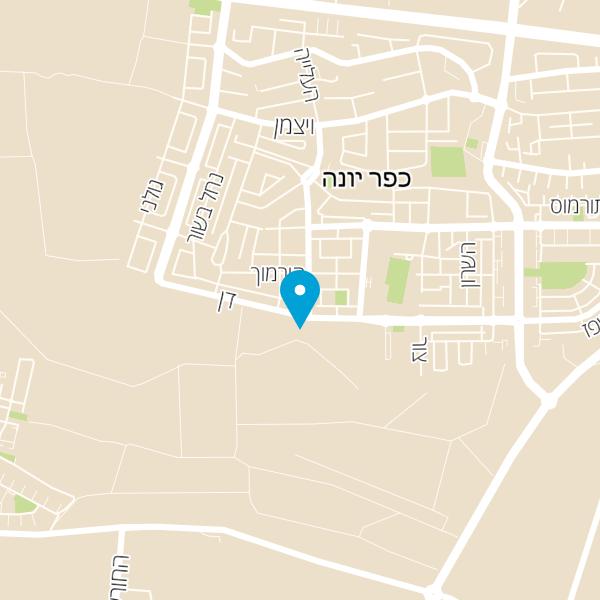 מפה של כפר יונה מנעול ובטחון