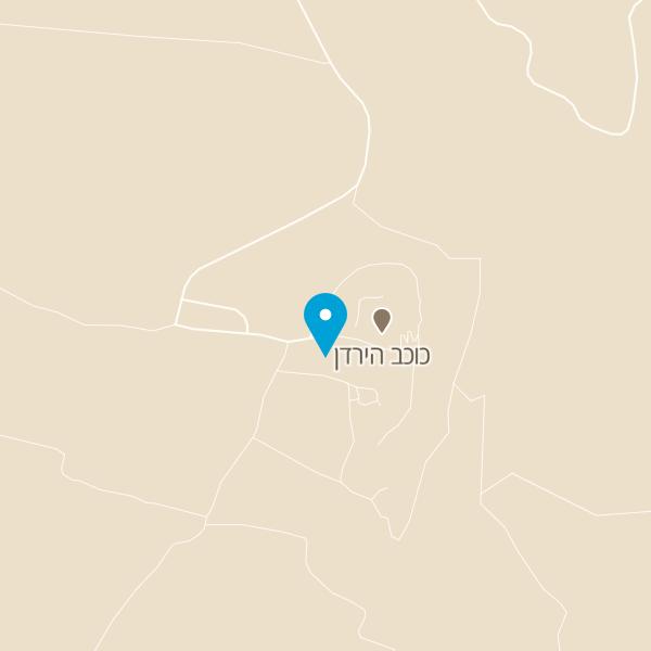 מפה של גן לאומי כוכב הירדן
