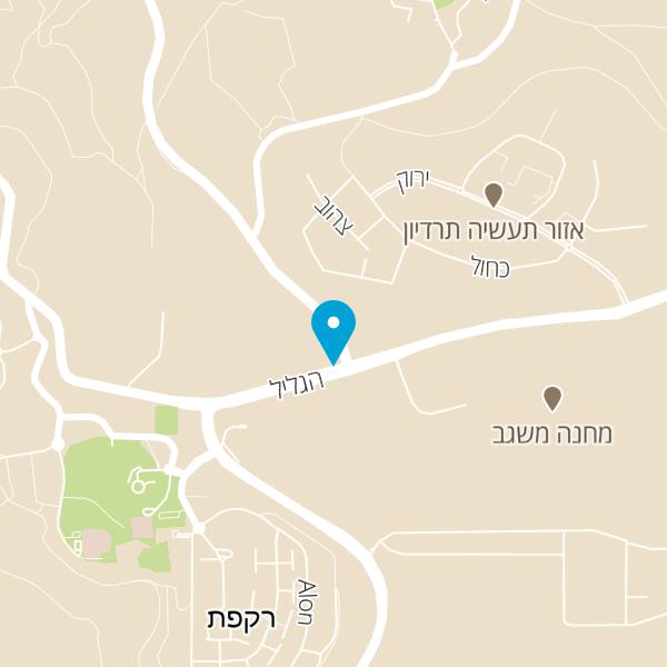 מפה של מסעדת אל רוביאן
