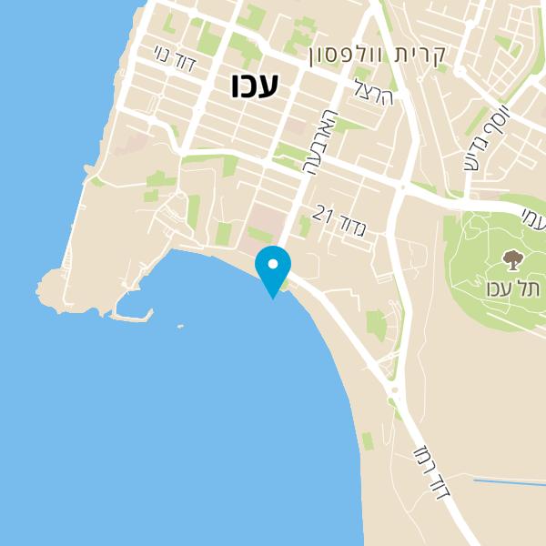 מפה של החוף הנפרד עכו