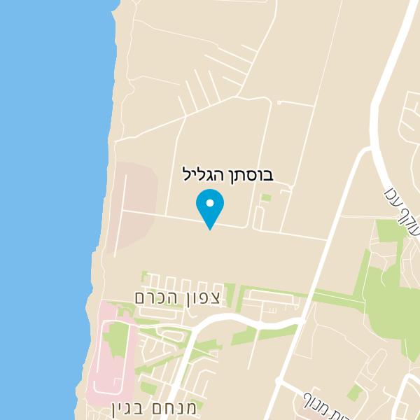 מפה של סטודיו אוכל בית ליצירה קולינרית בגליל
