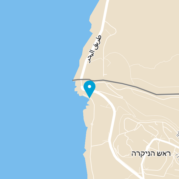 מפה של אתר התיירות ראש הנקרה