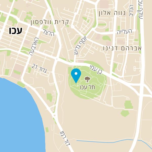 מפה של תל נפולאון עכו