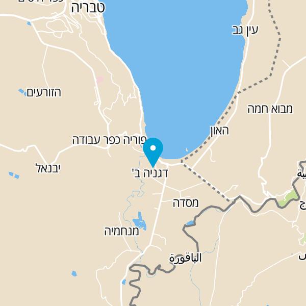 מפה של חוף ירדן
